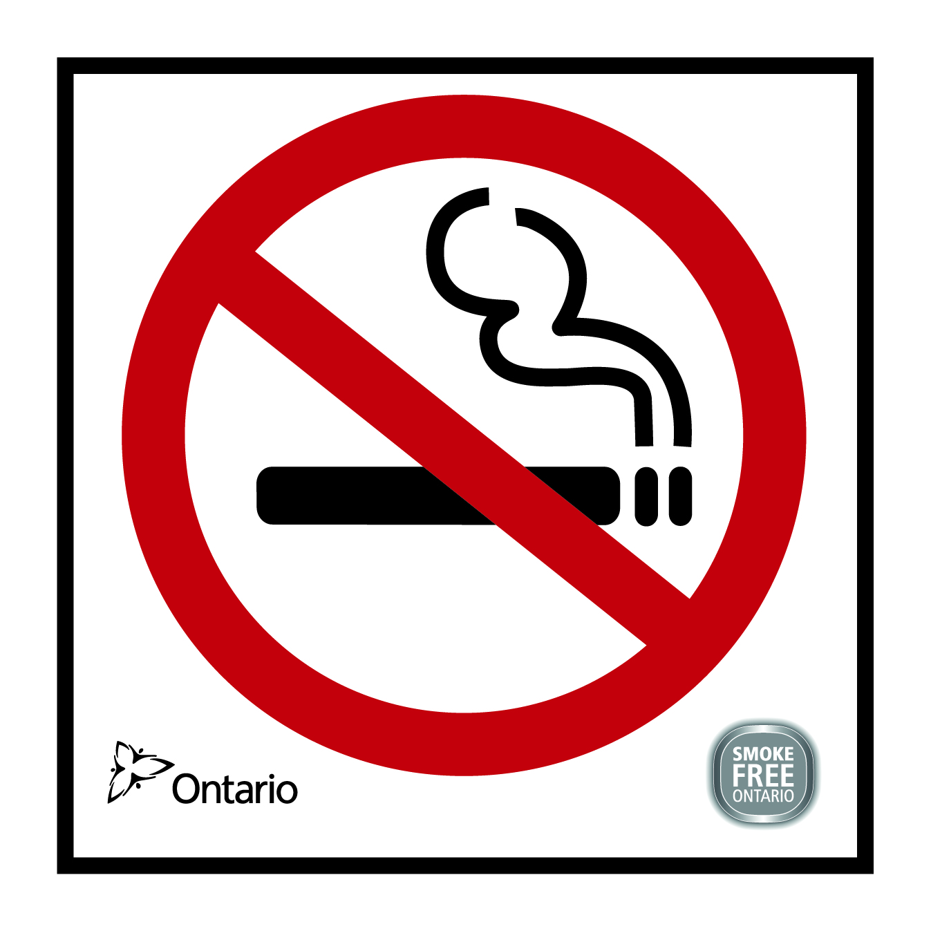 image regarding No Smoking Sign Printable referred to as Purchase Smoke-No cost Ontario Act Signs and symptoms EOHU Community Health and fitness